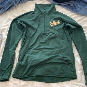 Oakland A's pullover half zip